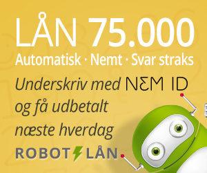 robotlån lån op til 75000 kr