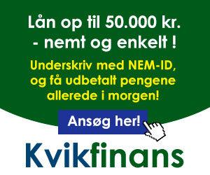 Kvikfinans lån op til 50000 nemt og enkelt