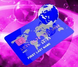 Kreditkort blå